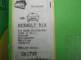 Renault 18 oikeanpuoleinen ajovalo, Autovaraosat, Auton varaosat ja tarvikkeet, Kauhajoki, Tori.fi
