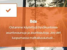 Olemme kiinnostuneet matkailuajoneuvostasi, Asuntovaunut, Matkailuautot ja asuntovaunut, Kokkola, Tori.fi