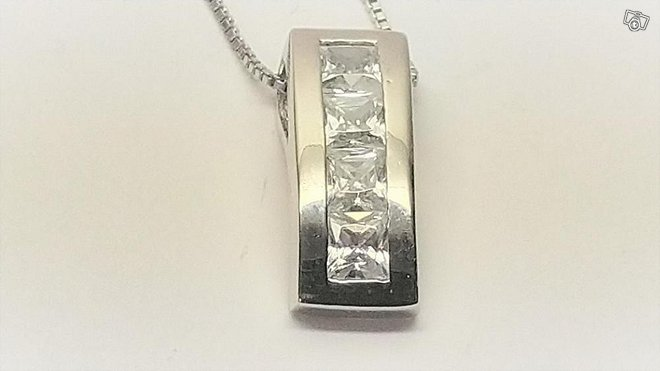 Kaulakoru zirkoneilla, hopea 925
