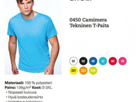 0450 Camimera Tekninen T-Paita, Vaatteet ja kengät, Kouvola, Tori.fi