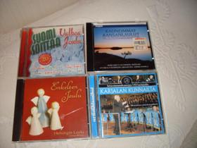 CD- levyjä lajitelma 4 erilaista, Musiikki CD, DVD ja äänitteet, Musiikki ja soittimet, Kitee, Tori.fi