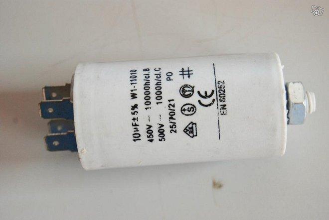 Kondensaattori 10µF +-5% W1-11010 450VAC 10000h/c