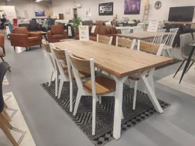 Lana ruokapöytä 200x88cm + 6 lankkutuolia -35%ALE, Pöydät ja tuolit, Sisustus ja huonekalut, Hanko, Tori.fi