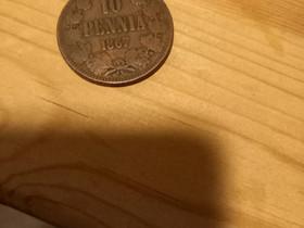 10 penniä 1867, Antiikki ja taide, Sisustus ja huonekalut, Parkano, Tori.fi