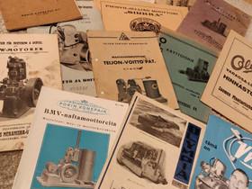 Vene- ja maamoottoreihin liittyvät paperit, Muut kirjat ja lehdet, Kirjat ja lehdet, Pirkkala, Tori.fi