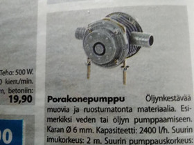 Porakoneeseen liitettävä pumppu, Työkalut, tikkaat ja laitteet, Rakennustarvikkeet ja työkalut, Kuopio, Tori.fi