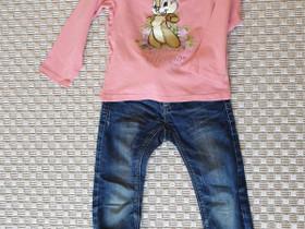 Disney paita 98cm sekä farkut 98-104cm, Lastenvaatteet ja kengät, Helsinki, Tori.fi