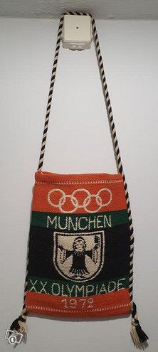Munchen 1972 olympia olkalaukku muistoesine