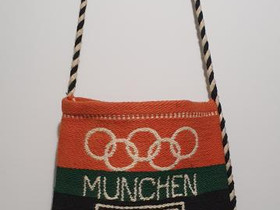 Munchen 1972 olympia olkalaukku muistoesine, Muu keräily, Keräily, Espoo, Tori.fi