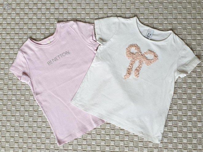 2kpl T-paitoja koko 98cm (Benetton ja Zara)