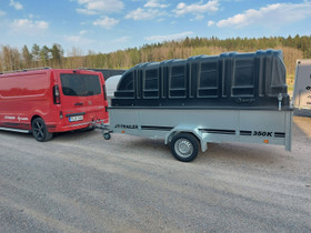 350x150x50+kuomu musta heti varastosta 3v takuulla, Peräkärryt ja trailerit, Auton varaosat ja tarvikkeet, Turku, Tori.fi