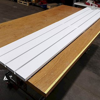 Hyllylevy, metalli valkoinen, 94x39 + 112x39 cm