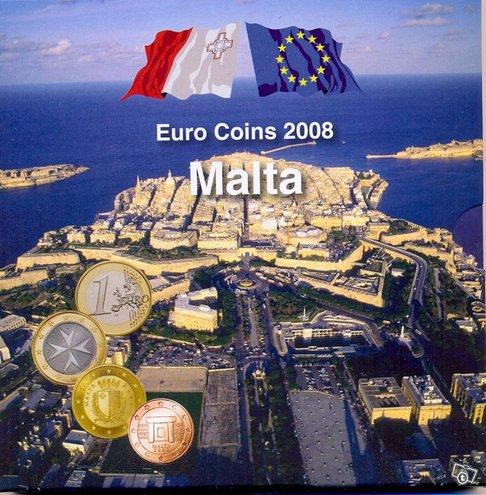 MALTA 2008 virallinen numeroitu rahasarja + postim