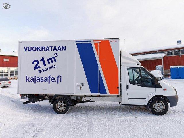 B-kortilla ajettava pakettiauto (tila 21m3)