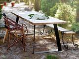 Golana lankkupöytä metallijaloilla 150×90 cm, Pöydät ja tuolit, Sisustus ja huonekalut, Helsinki, Tori.fi