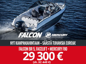 Falcon BR5 + MERCURY F80 Kampanja, Moottoriveneet, Veneet, Mikkeli, Tori.fi