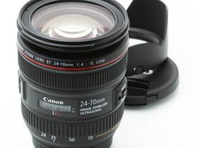 Käytetty Canon EF 24-70mm f/4 L IS USM, Objektiivit, Kamerat ja valokuvaus, Turku, Tori.fi