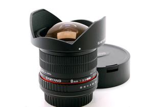 Käytetty Samyang EOS 8mm f/3.5 FIsh-eye CSII, Objektiivit, Kamerat ja valokuvaus, Helsinki, Tori.fi
