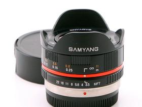 Käytetty Samyang MFT 7.5mm f/3.5 Fish-eye, Objektiivit, Kamerat ja valokuvaus, Helsinki, Tori.fi