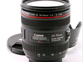 Käytetty Canon EF 24-70mm f/4 L IS USM, Objektiivit, Kamerat ja valokuvaus, Helsinki, Tori.fi