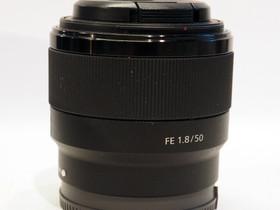 Käytetty Sony FE 50mm f/1.8 -objektiivi, Objektiivit, Kamerat ja valokuvaus, Tampere, Tori.fi