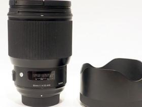 Käytetty Sigma 85mm f/1.4 Art DG HSM -objektiivi,, Objektiivit, Kamerat ja valokuvaus, Tampere, Tori.fi