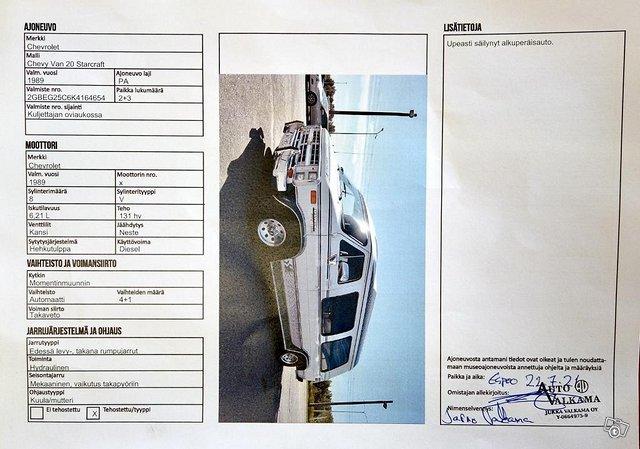 Chevrolet Chevy Van G20 10