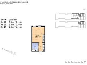 1H, 28m², Asemakatu, Vaasa, Vuokrattavat asunnot, Asunnot, Vaasa, Tori.fi