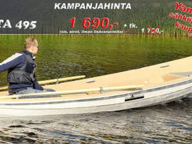 Suvi Soutu-Palta 495 + Yamaha M12, Soutuveneet ja jollat, Veneet, Pirkkala, Tori.fi