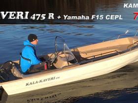 Suvi Kala-Kaveri 475 + Yamaha F15, Moottoriveneet, Veneet, Pirkkala, Tori.fi