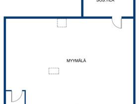 Virrat Keskusta Virtaintie 43 Liikehuoneisto 49,5m, Liikkeille ja yrityksille, Virrat, Tori.fi