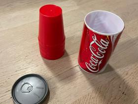 Coca-Cola muovimukit, Ruokailuastiat ja aterimet, Keittiötarvikkeet ja astiat, Pirkkala, Tori.fi
