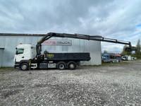 Scania R420, 6x2 + CRANE + BOX + BUCKET