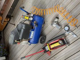 Paineilmakompressori+Tarvikkeet, Työkalut, tikkaat ja laitteet, Rakennustarvikkeet ja työkalut, Masku, Tori.fi