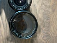 Objektiivit, setti mm. Cosina, Af Nikkor & Yashica