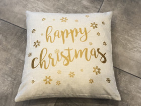 Happy Christmas tyynynpäälliset, Matot ja tekstiilit, Sisustus ja huonekalut, Raasepori, Tori.fi