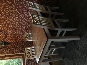 Pöytä ja 6kpl tuoleja (+lisäpala pöytään), Pöydät ja tuolit, Sisustus ja huonekalut, Lohja, Tori.fi