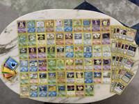 Pokemon base set, jungle set, fossil set