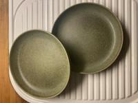 2 x 'H&M home' vihreä lautanen