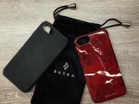 Burga Iconic Red Ruby - Marble iPhone 7 / 8 Case, Puhelintarvikkeet, Puhelimet ja tarvikkeet, Tampere, Tori.fi