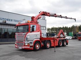Scania R560 8x2 V8 Nosturi & Koukkuauto, Kuljetuskalusto, Työkoneet ja kalusto, Turku, Tori.fi