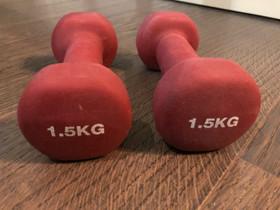 1,5 kg käsipainot, Kuntoilu ja fitness, Urheilu ja ulkoilu, Espoo, Tori.fi