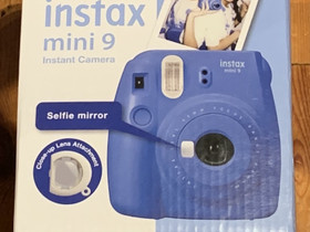 Instax Mini 9 Instant Camera, sininen - UUSI, Kamerat, Kamerat ja valokuvaus, Tampere, Tori.fi