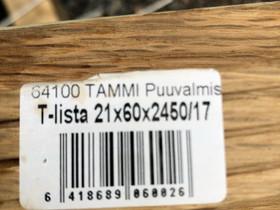 T-lista 21x60x2450/17mm Maler tammi puuvalmis, Ikkunat, ovet ja lattiat, Rakennustarvikkeet ja työkalut, Helsinki, Tori.fi