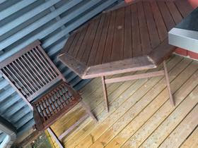 Pöytä ja kolme tuolia, Pihakalusteet ja grillit, Piha ja puutarha, Oulu, Tori.fi