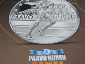 Paavo Nurmi hopeoitu Juhlaraha Uusi Pkt 2,5e/Nouto, Rahat ja mitalit, Keräily, Tampere, Tori.fi