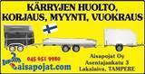 AISAPOIKA 4.0KTL Lavettiperäkärry kipillä/ kuomula, Peräkärryt ja trailerit, Auton varaosat ja tarvikkeet, Tampere, Tori.fi