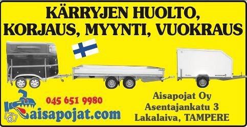 AISAPOIKA 4.0KTL Lavettiperäkärry kipillä/ kuomula