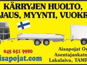 AISAPOIKA 4.0KTL Lavettiperäkärry kipillä/ kuomula, Peräkärryt ja trailerit, Auton varaosat ja tarvikkeet, Orivesi, Tori.fi