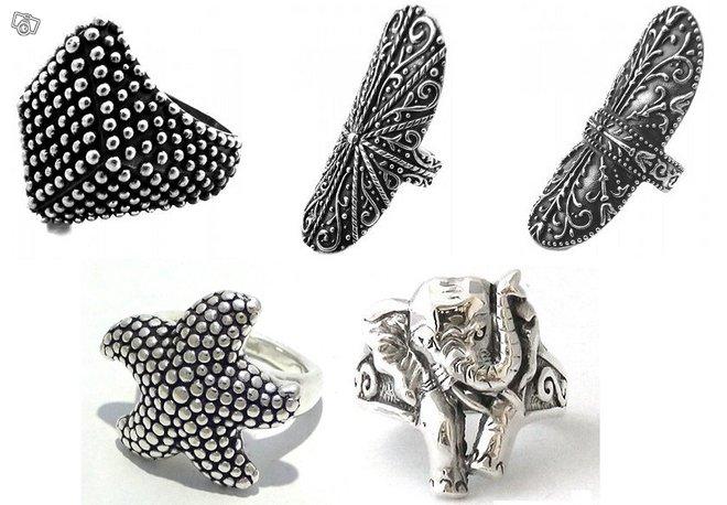 Naisten Balityyppiset hopeasormukset